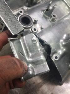 Motorcycle Gear Case Broken - Before