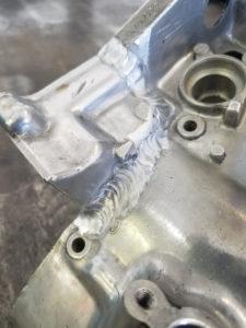 Motorcycle Gear Case Custom TIG Welded Back Together - After